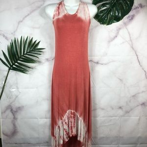 OLIVIA Tie Dye High Low Maxi Dress Medium